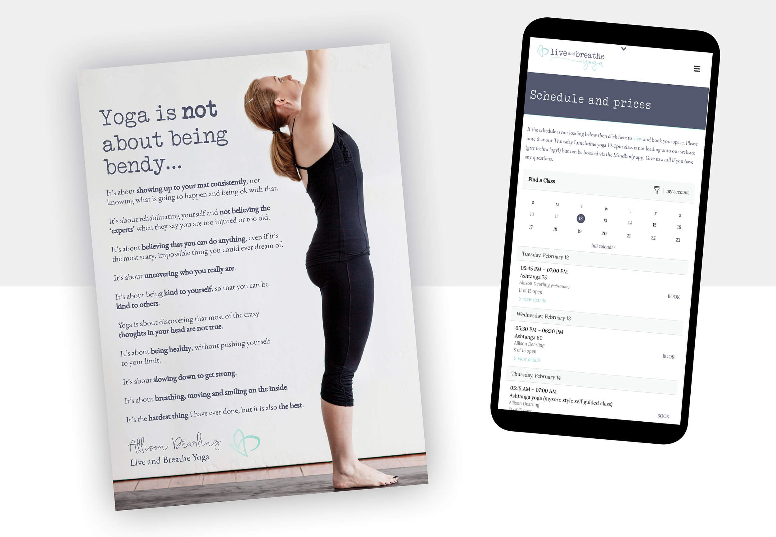 Live and Breathe Yoga Branding and Web Design