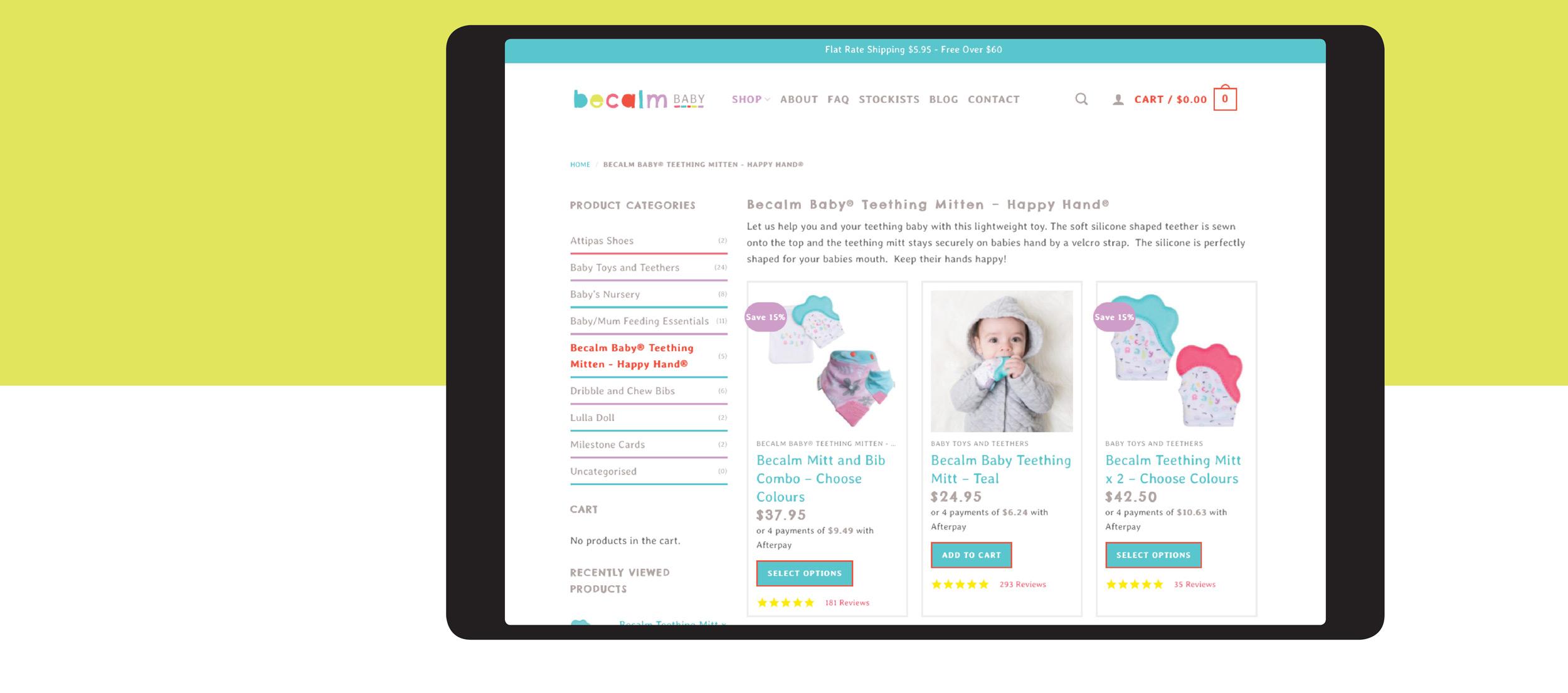 Verve Design Web Portfolio Becalm Baby