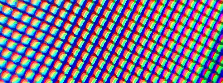 Close-up of screen pixels