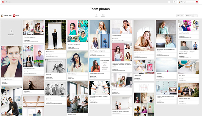 Team branding photos Pinterest