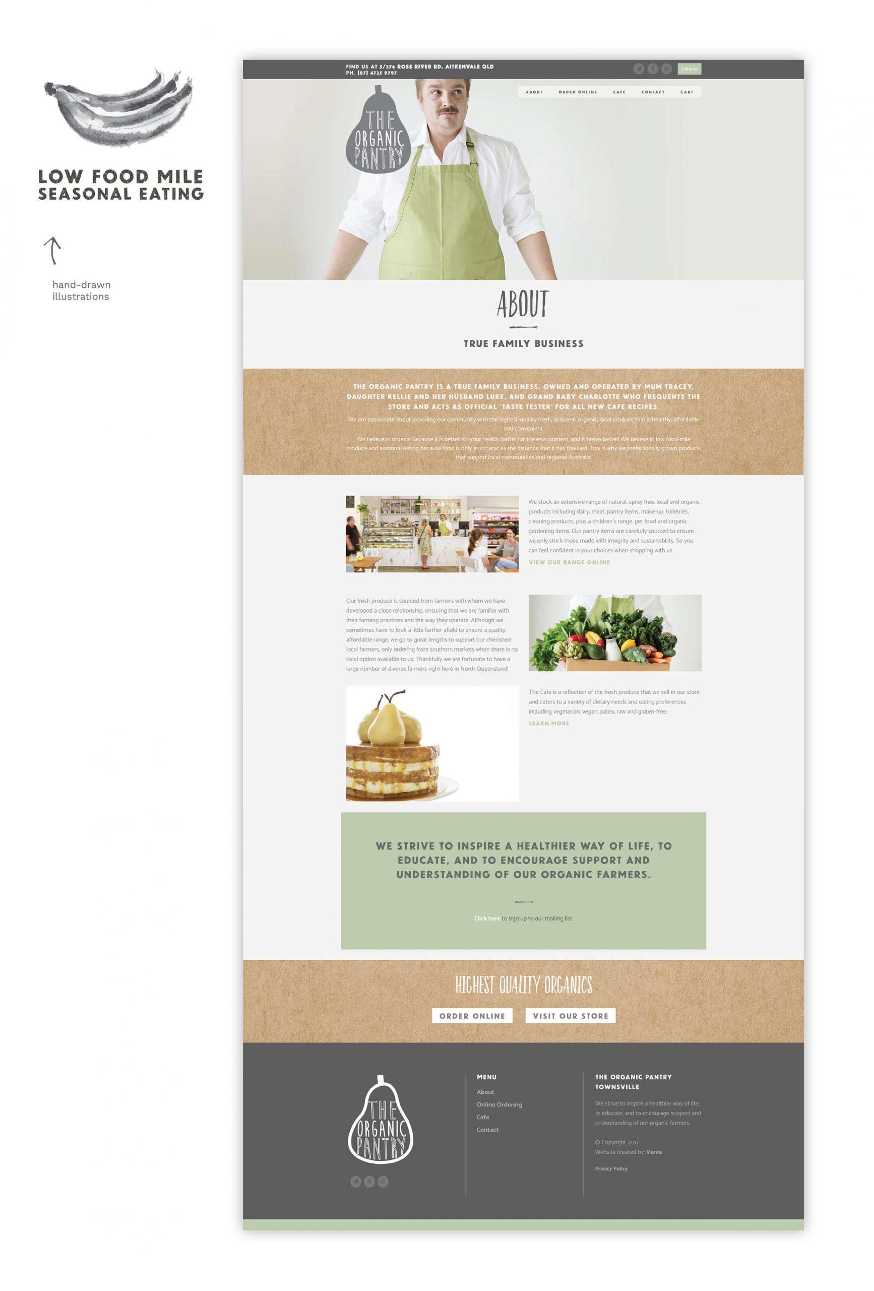 The Organic Pantry Web Design