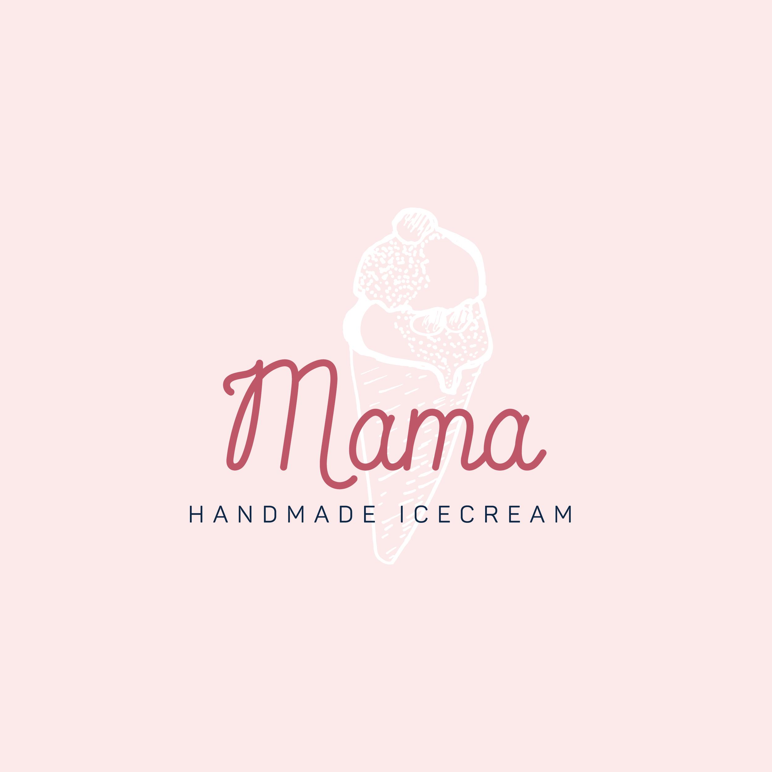 Mama Ice Creamery Branding