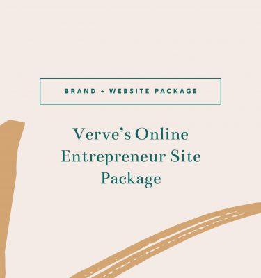 Verve's Online Entrepreneur Site Package