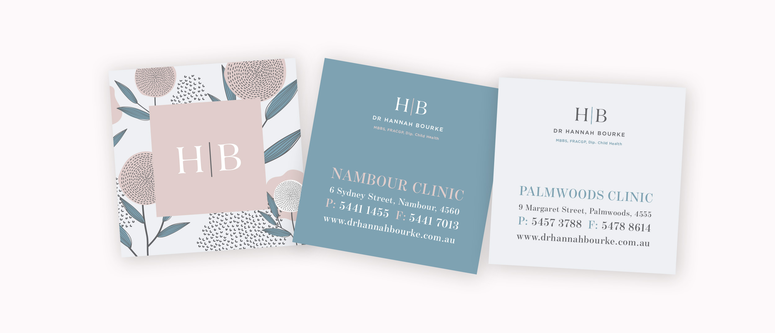 Verve Design Portfolio Dr Hannah Bourke business card