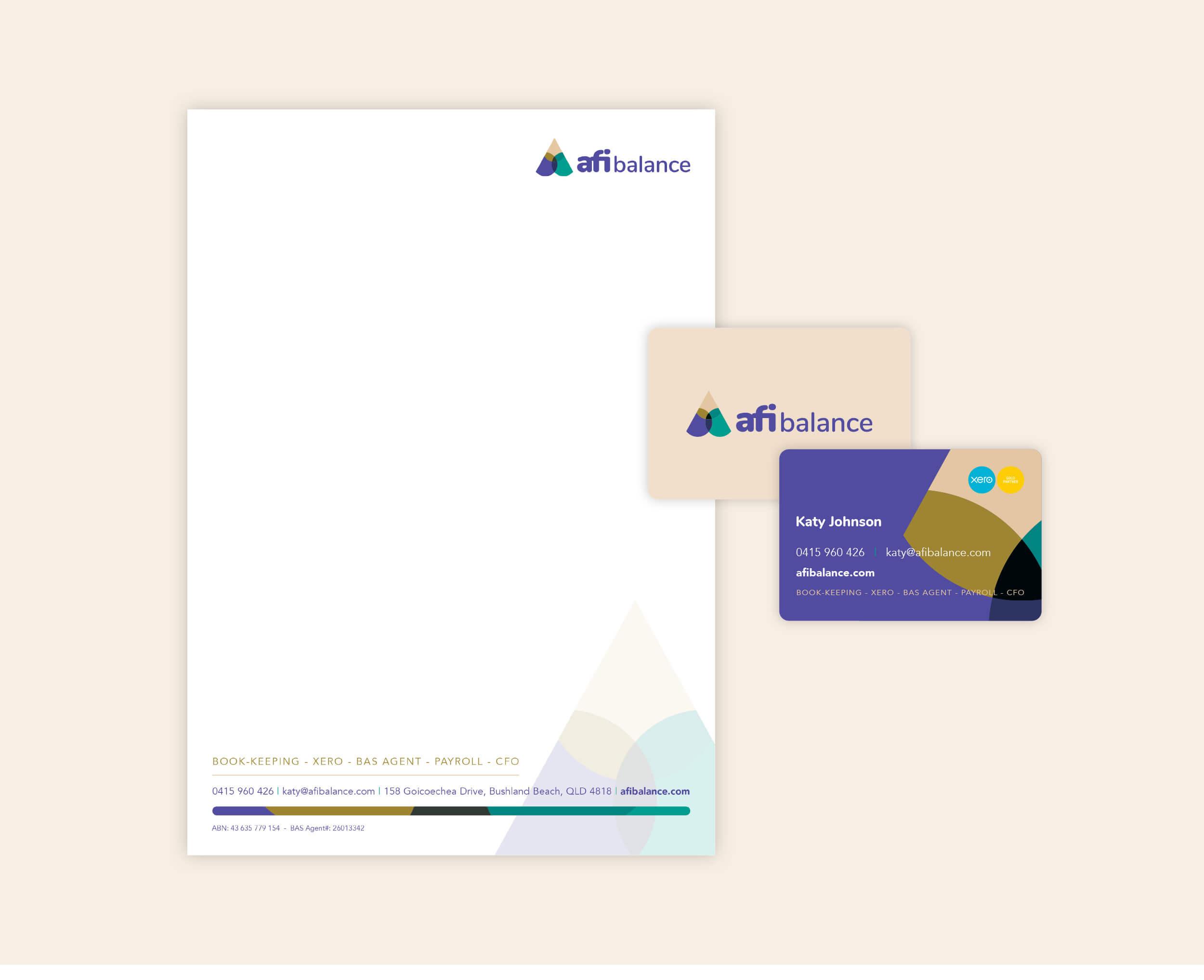 Verve Design example afi balance Stationery