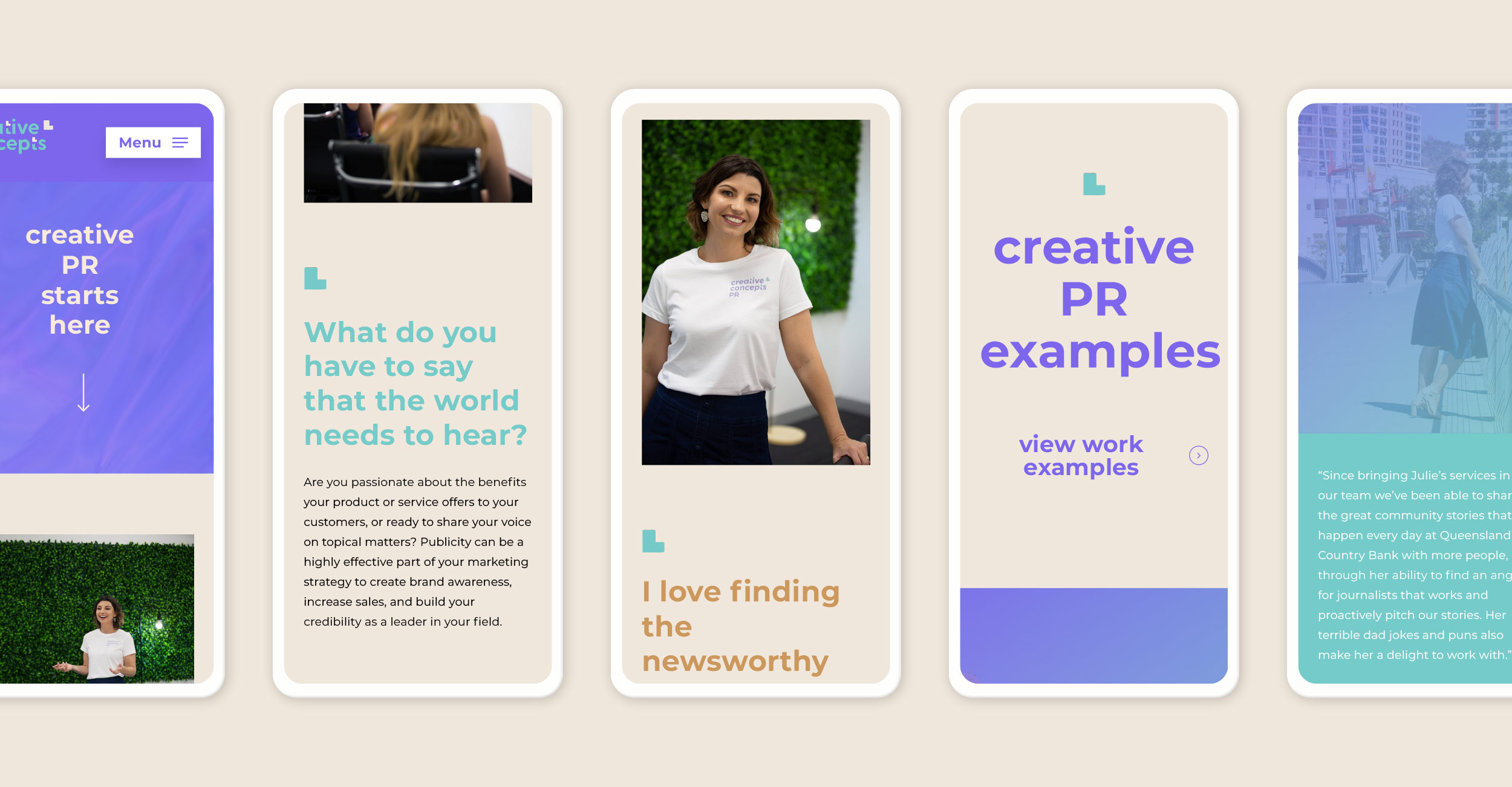 Creative Concepts Mobile Site Design