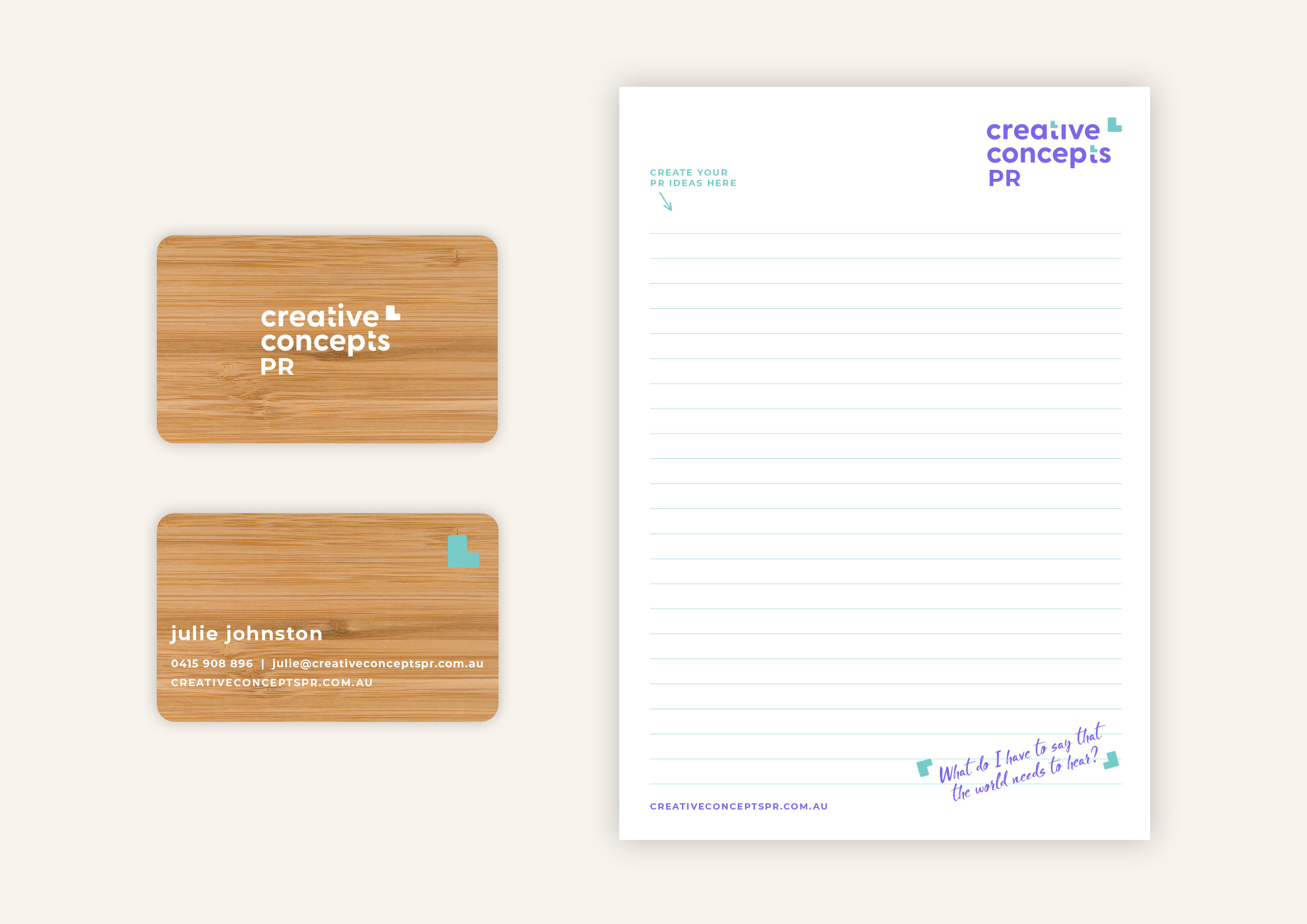 Creative Concepts Brand Package Stationery
