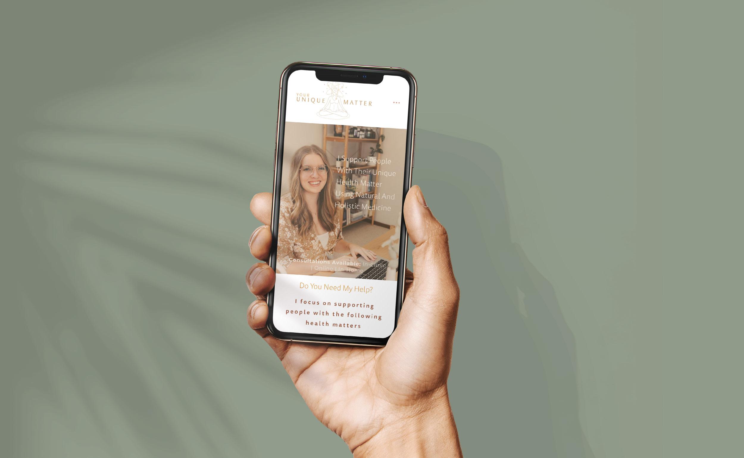 Your Unique Matter Mobile Site